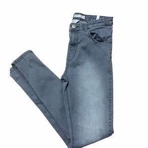 H&M Grey Skinny Fit Jeans Super Stretch Size 14
